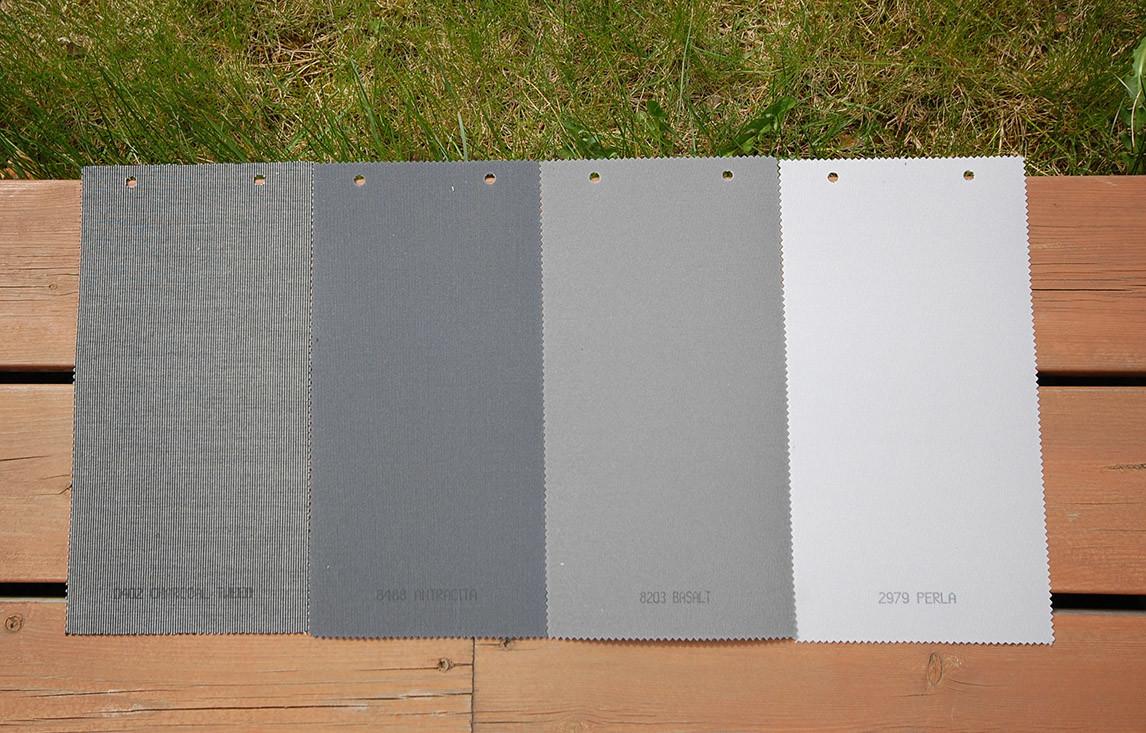 Charcoal Tweed, Antrasitt, Basalt og Perla